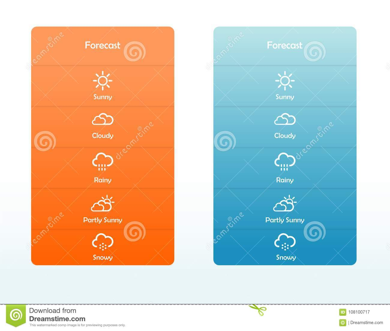 Weather Application User Interface Concept Stock Illustration Illustration Of Icon Business 108100717