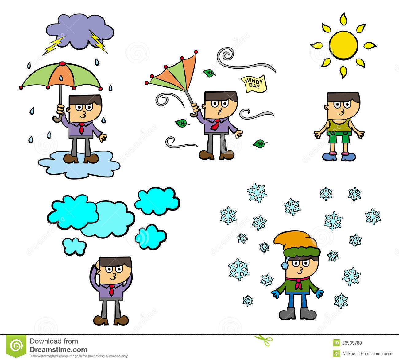 13ea235fc3 Weather conditions stock illustration. Illustration of humorous ...