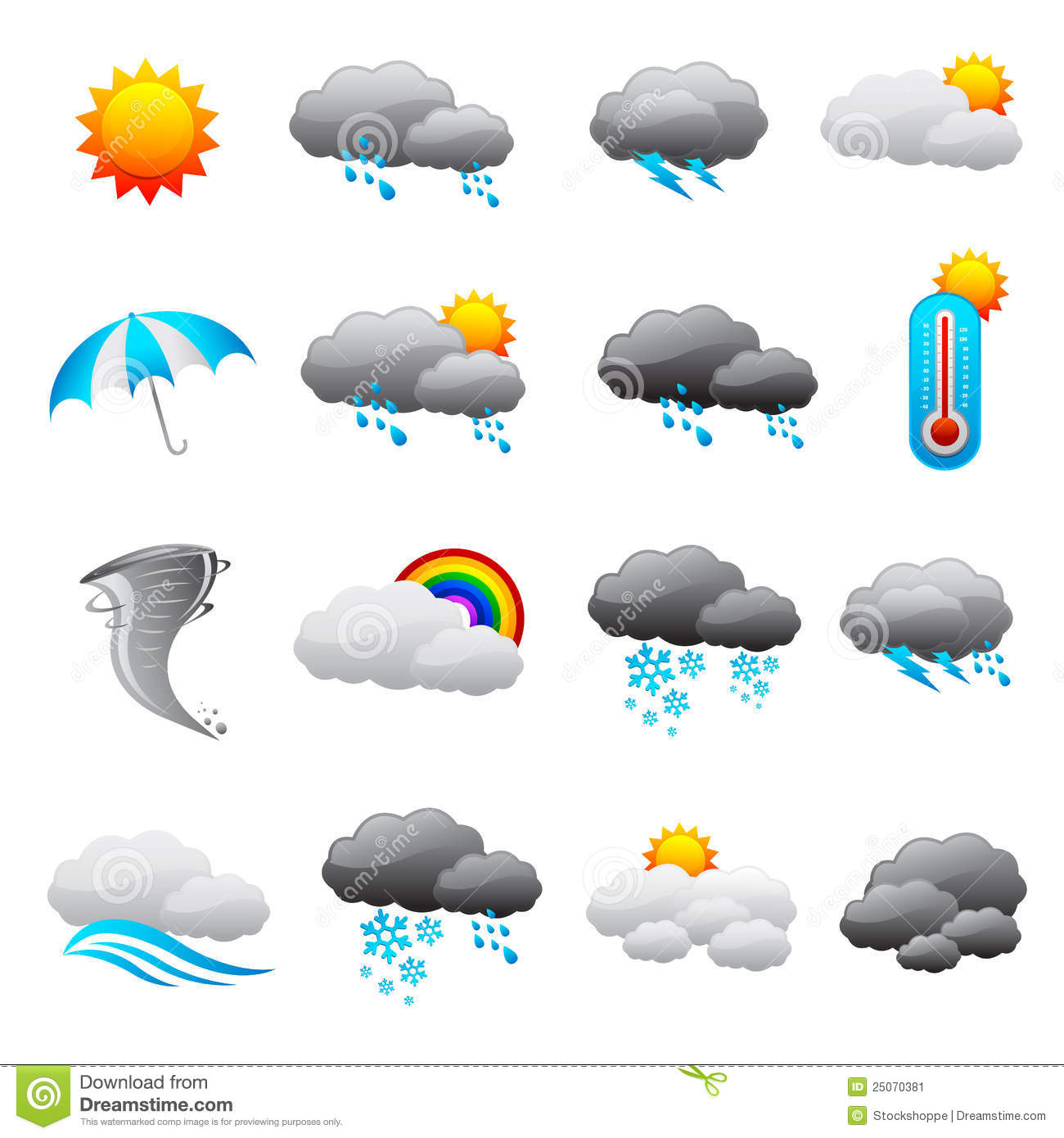 Weather Forecast Icon stock vector. Illustration of ...