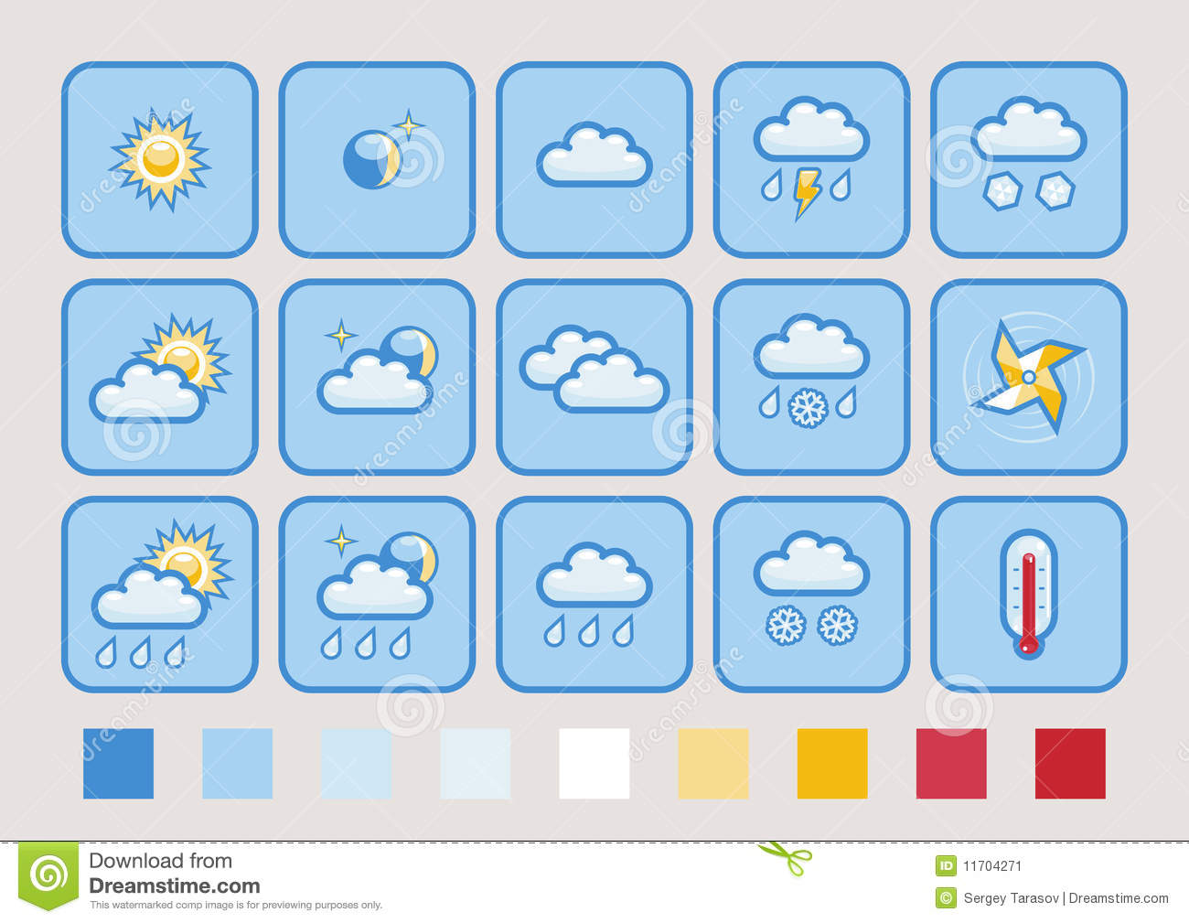 photo about Printable Weather Forecast called Weather conditions predict icon fixed inventory vector. Example of