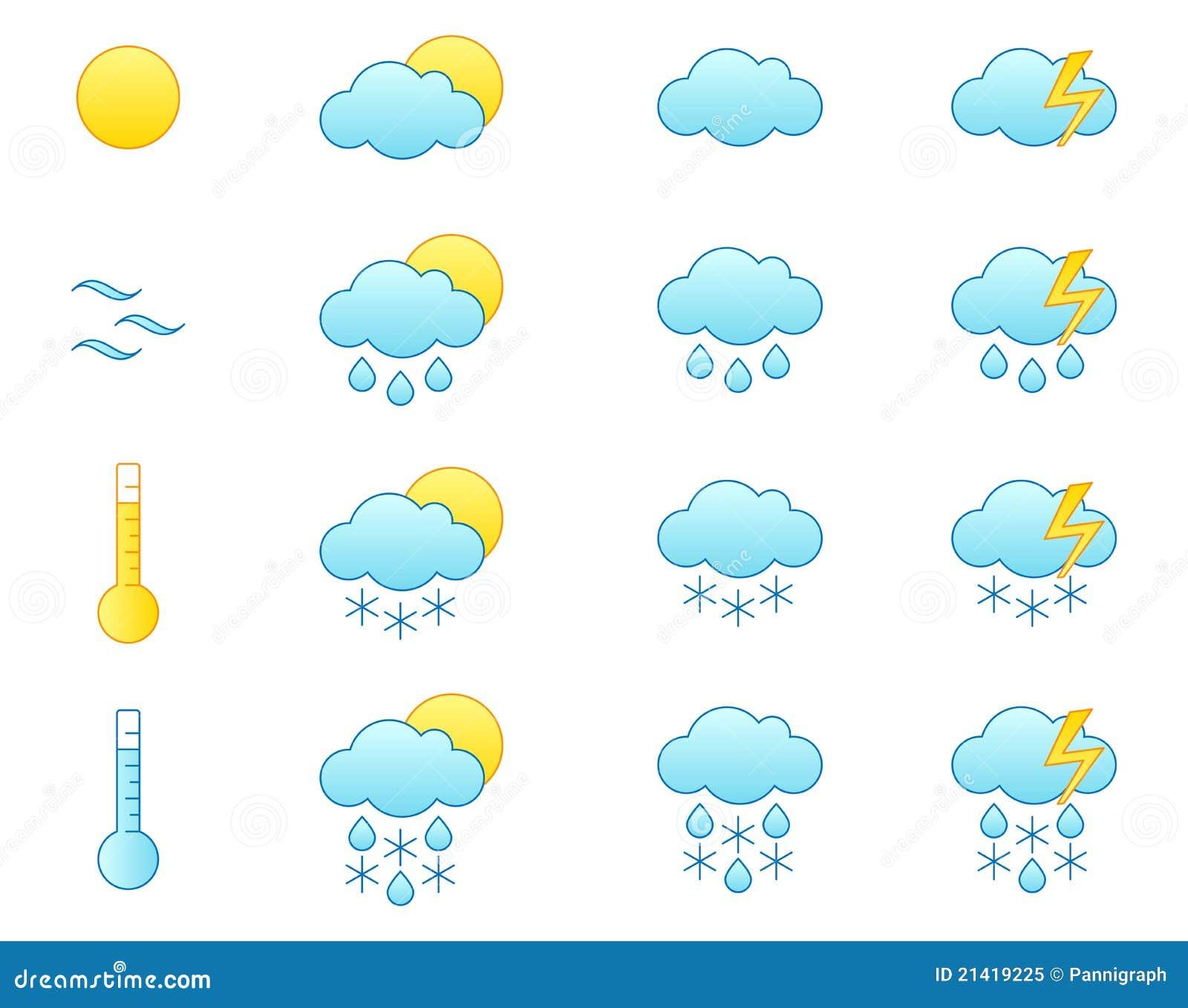 Weather Forecast Icon Set Royalty Free Stock Photo - Image ...  Weather Forecas...