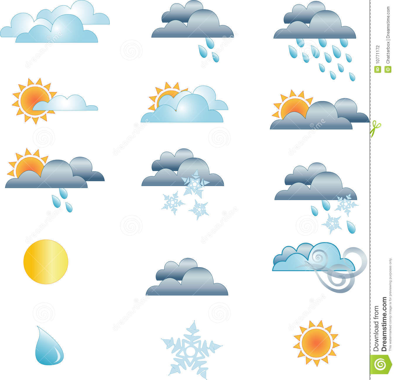 Weather forecast icons stock vector. Illustration of rain ...  Weather forecas...