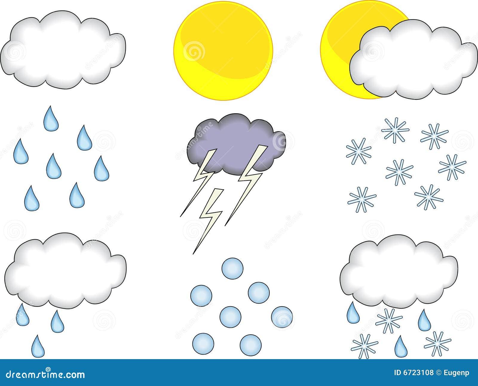 Weather Forecast Set Royalty Free Stock Photos - Image: 6723108