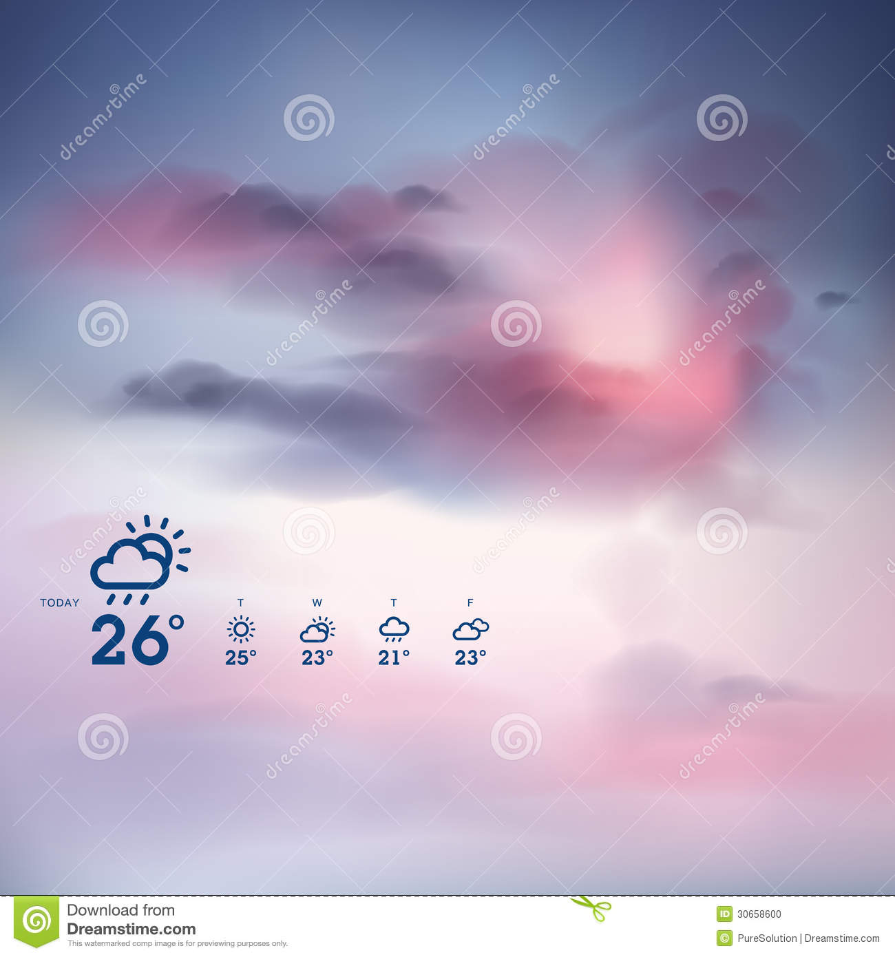 weather forecast template stock photo