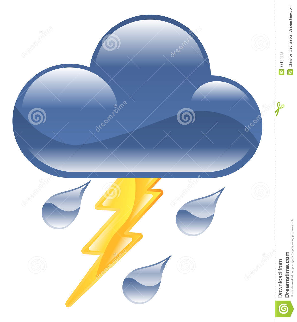 Weather Icon Clipart Lightning Thunder Storm Illus Stock Photography ...