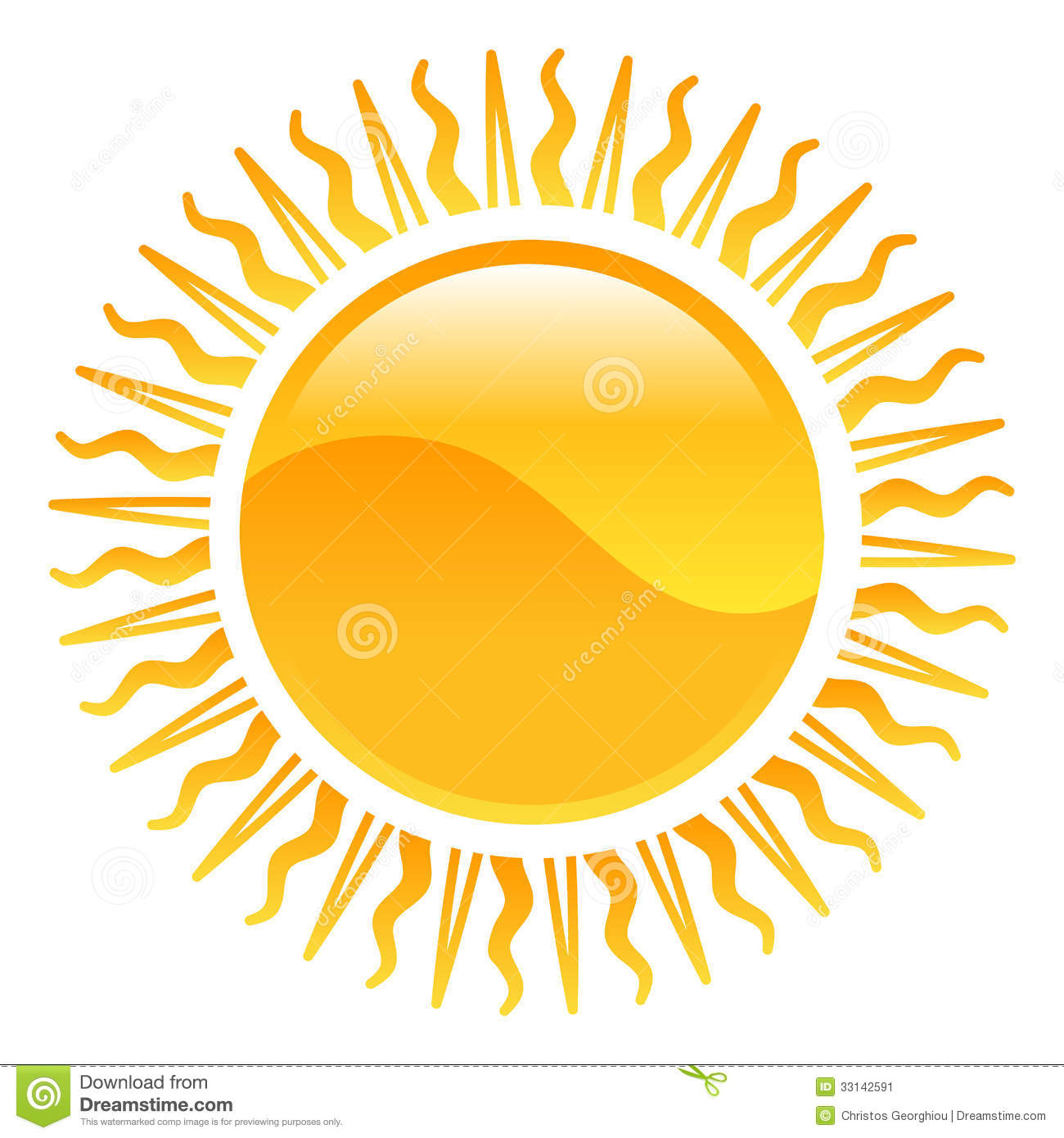Weather icon clipart sun illustration