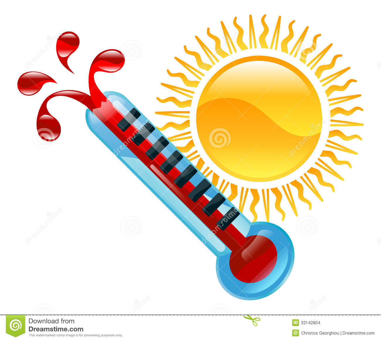 weather icon clipart boiling hot thermometer illustration.