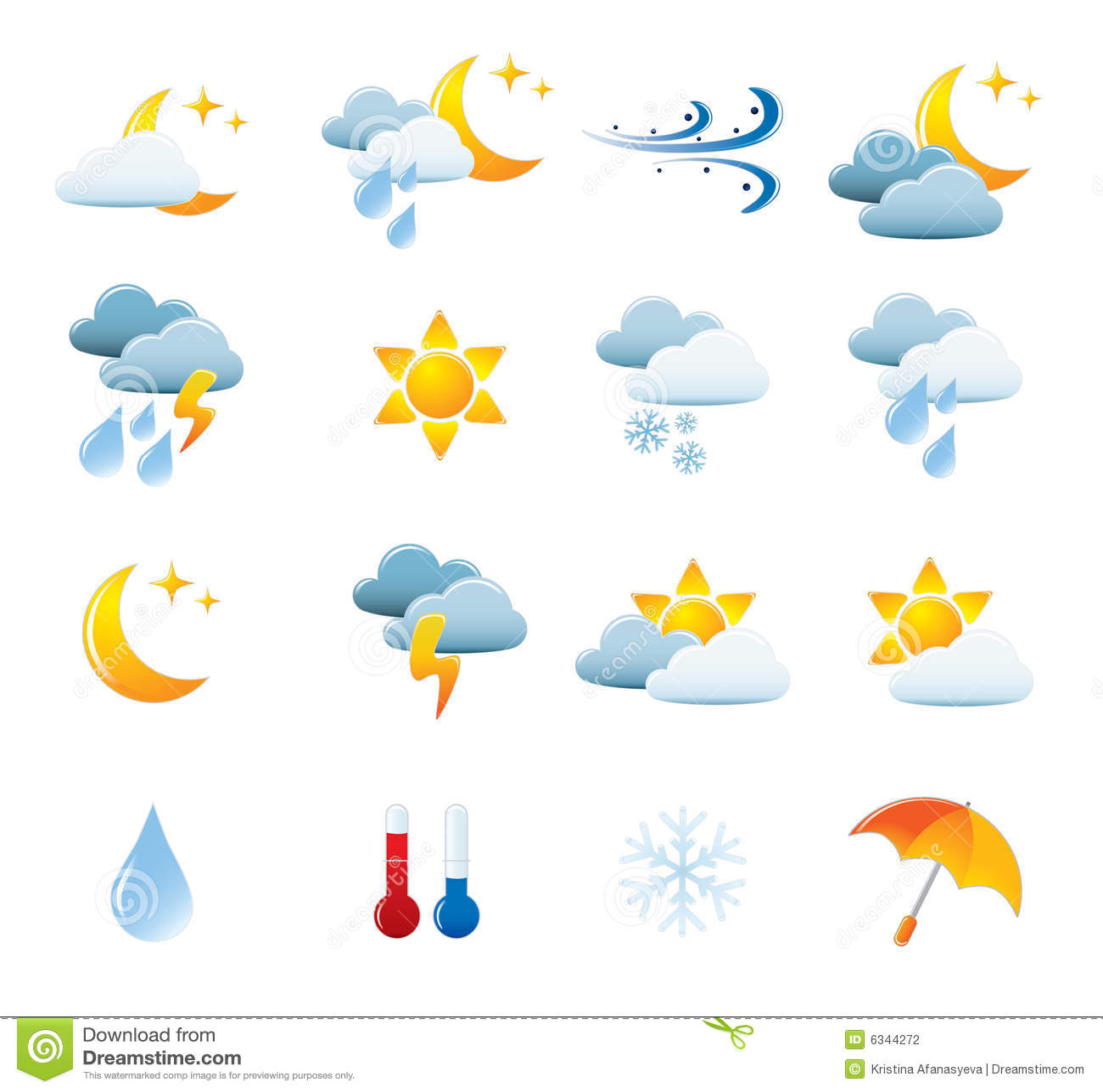 Weather Icon Set Stock Photography - Image: 6344272