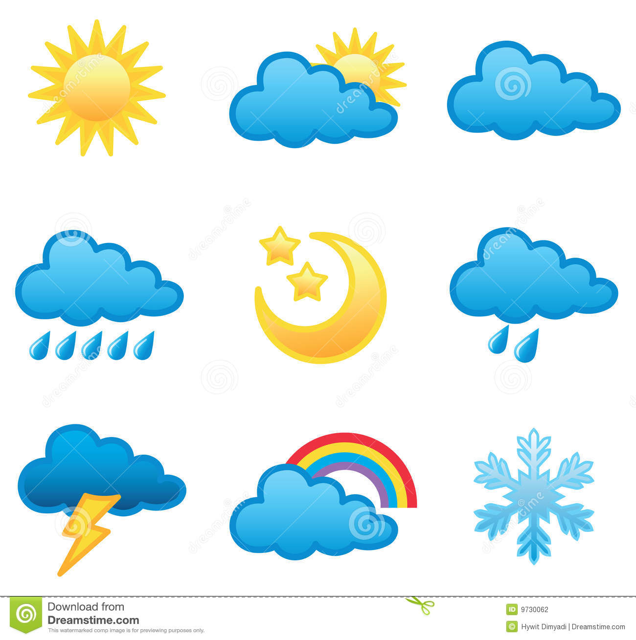 Weather icon set stock vector illustration of illustration 9730062 weather icon set stopboris Image collections