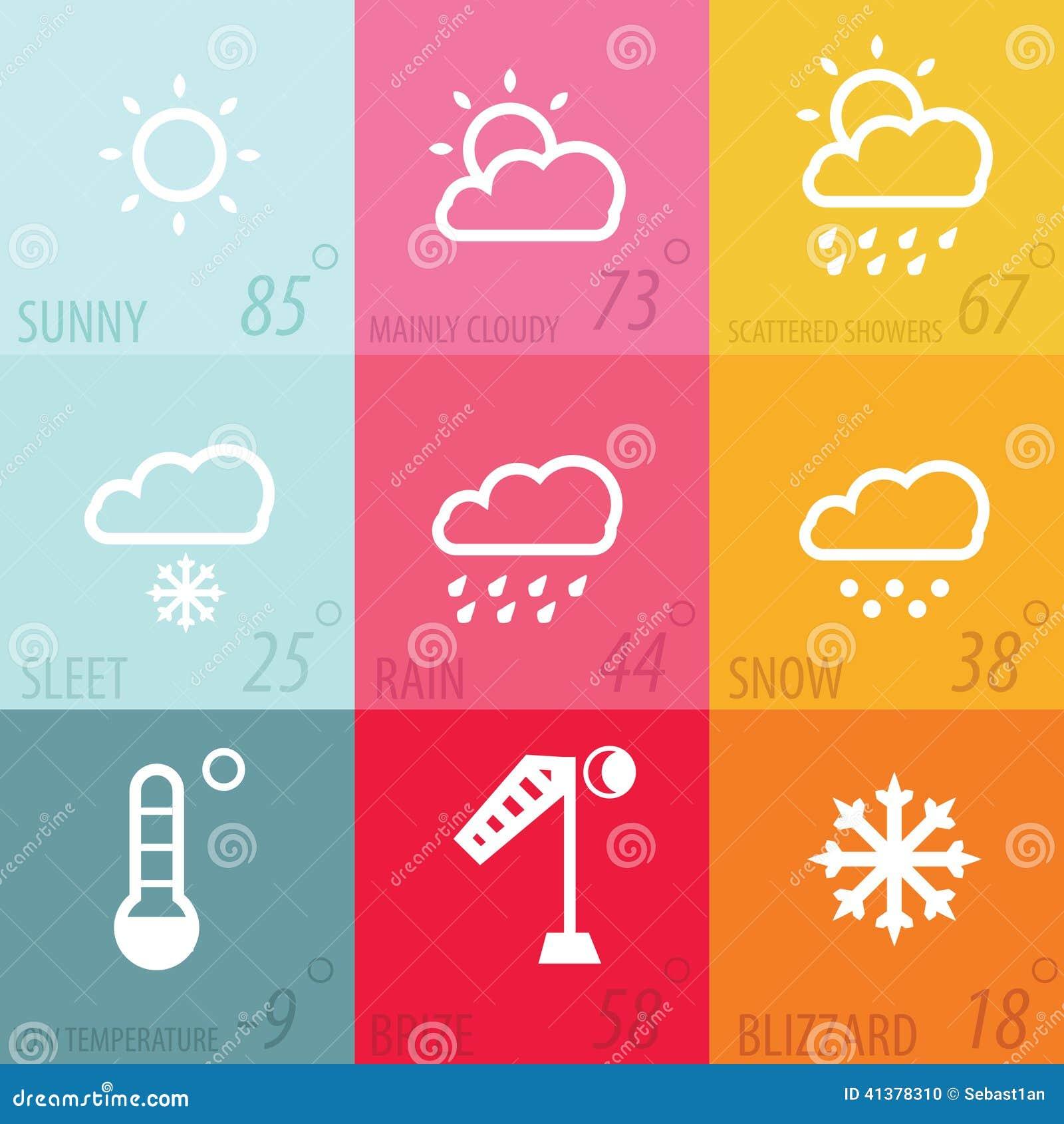 weather icon set stock vector