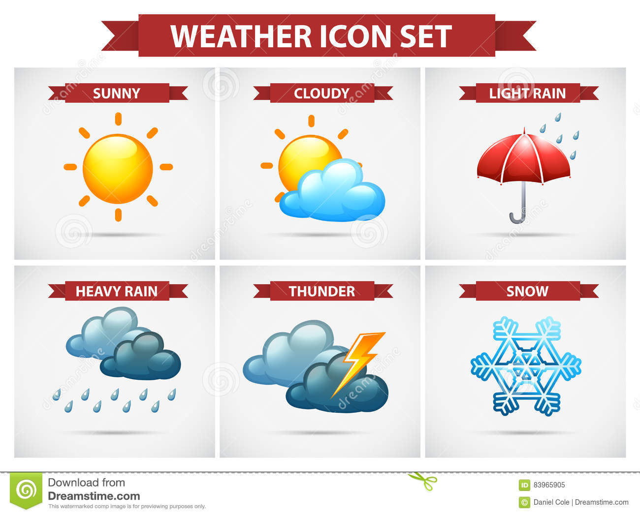 d194053ea6 Weather Icon Set With Many Weather Conditions Stock Illustration ...