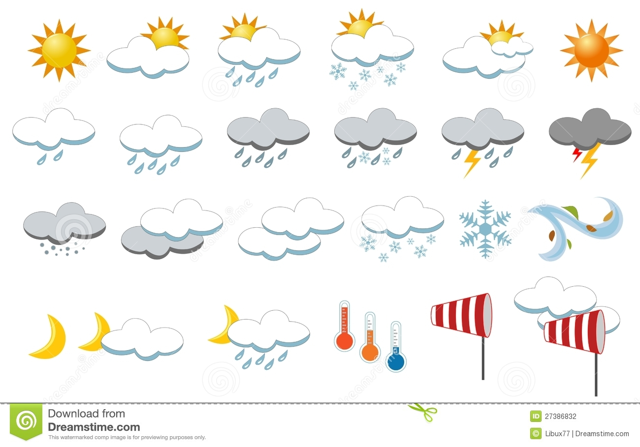 Foggy Weather Clip Art Weather icons collection