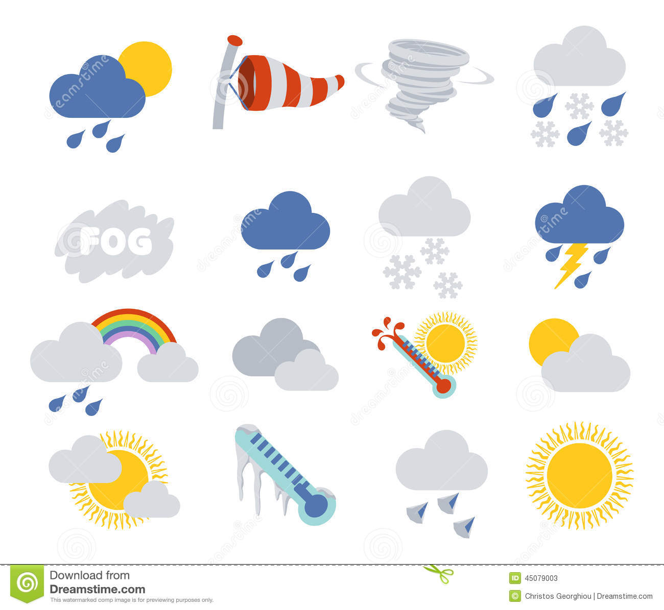 weather icons stock vector image of ikon application