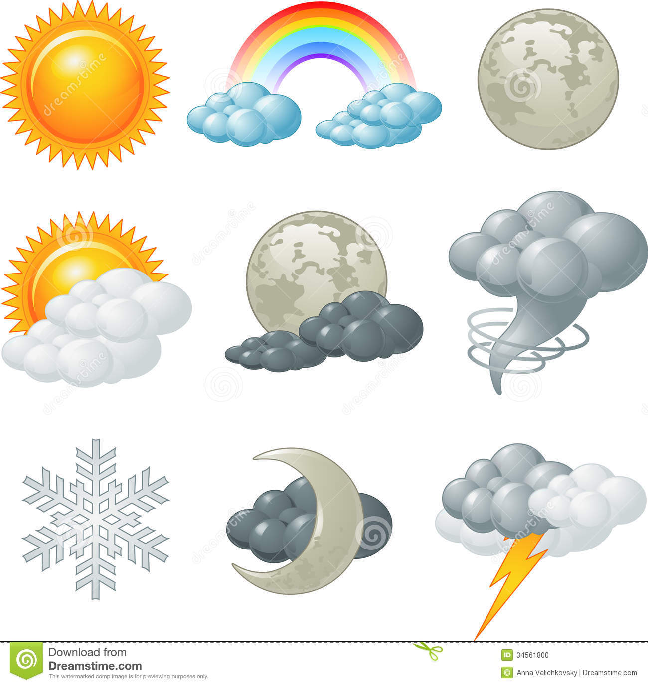 weather icons stock vector illustration of season