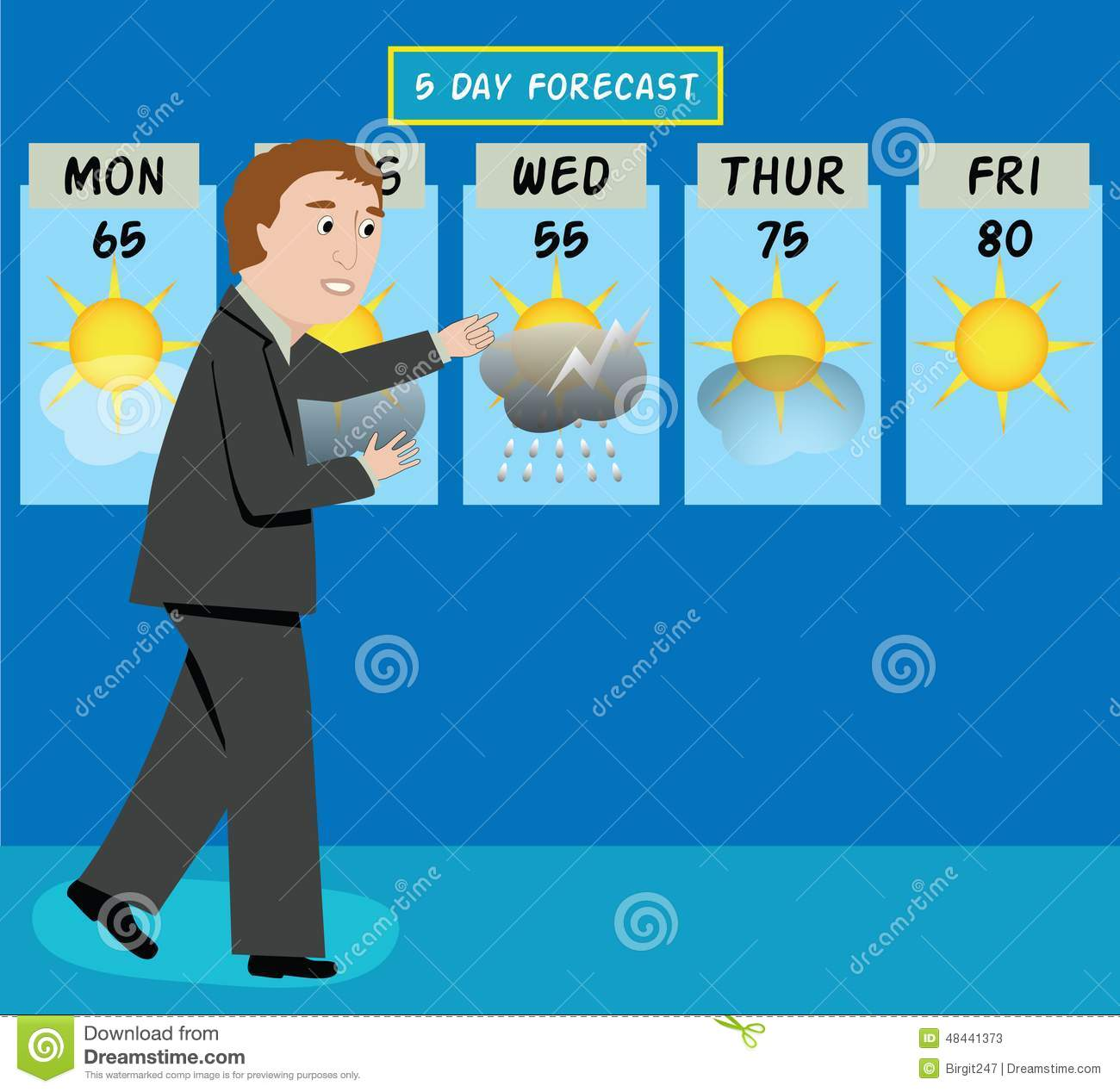 Weather Man Stock Vector