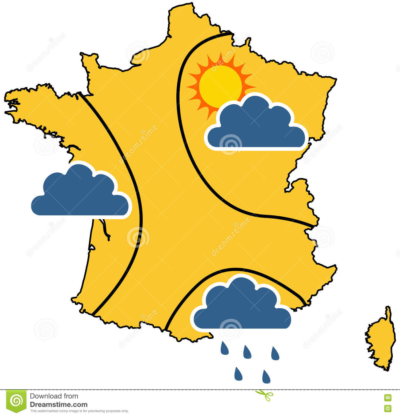 Clear Map Of France.Weather Map In France Stock Vector Illustration Of Clear 81363472