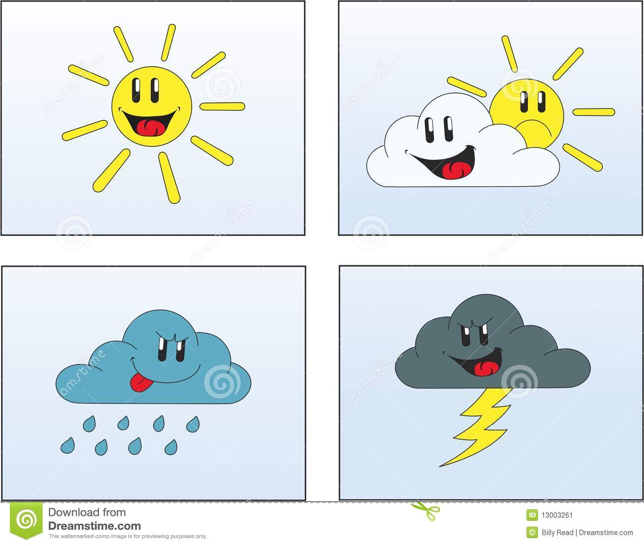 Weather Pictures 1 Stock Vector Illustration Of Clouds 13003261