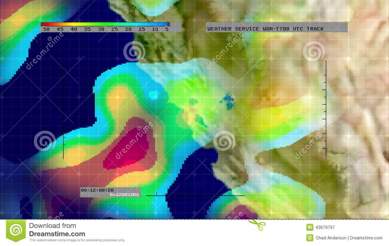 Map Of California Weather.Weather Radar Digital Satellite Map N California Stock Video