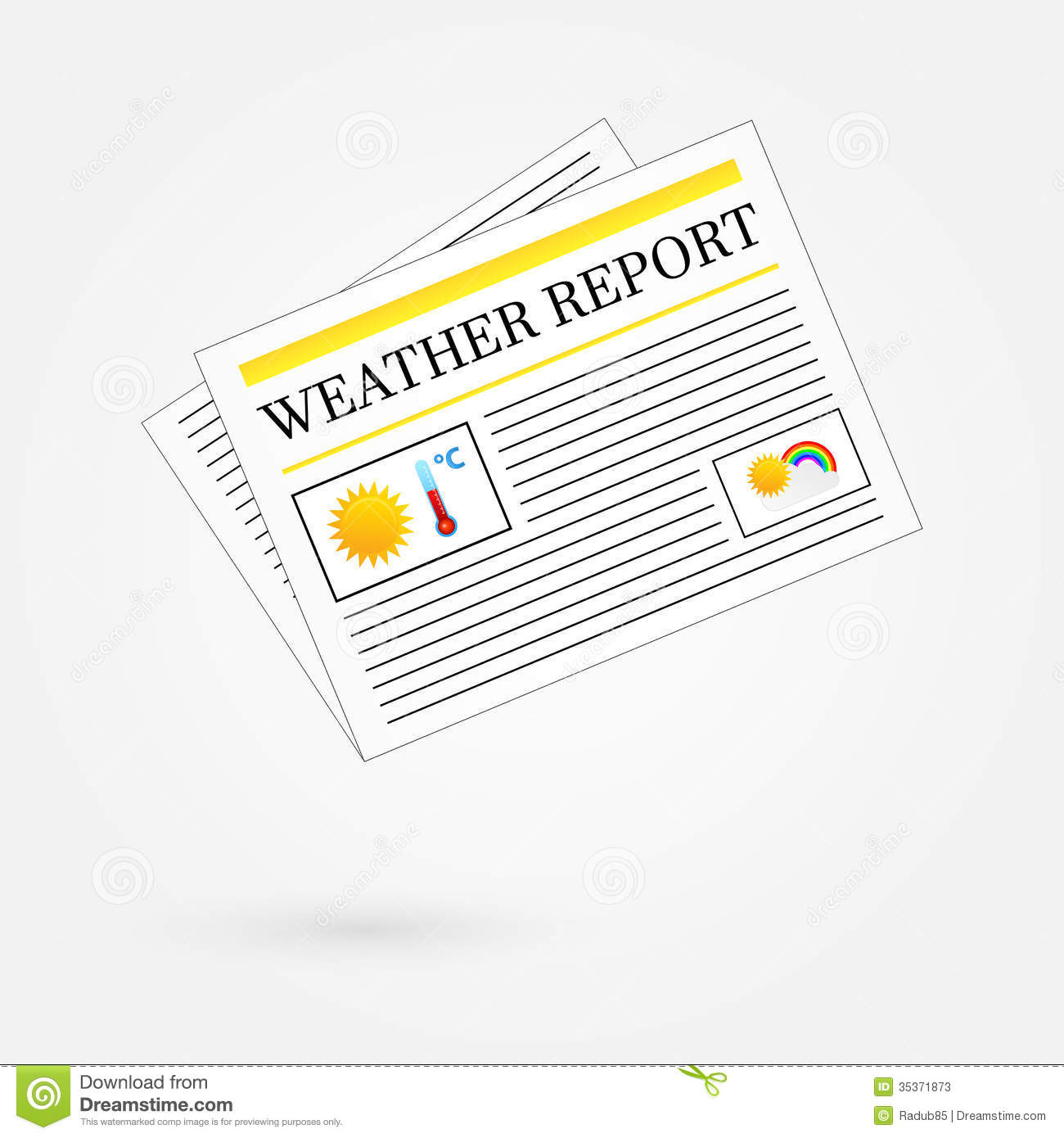 abstract cover design template stock vector image  weather report newspaper headline front page stock photos