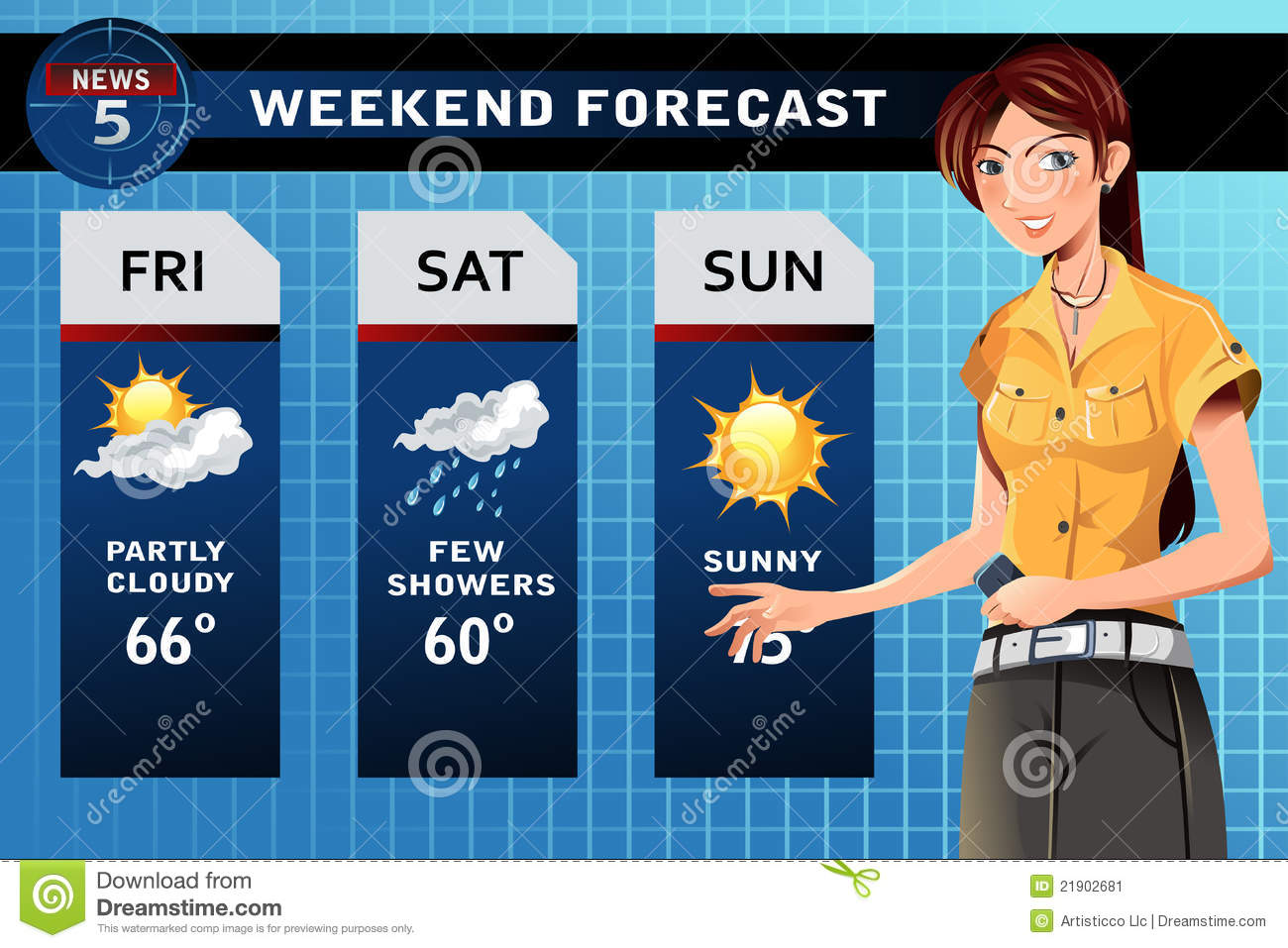 Weather reporter Stock Image  Weatherman Clipart