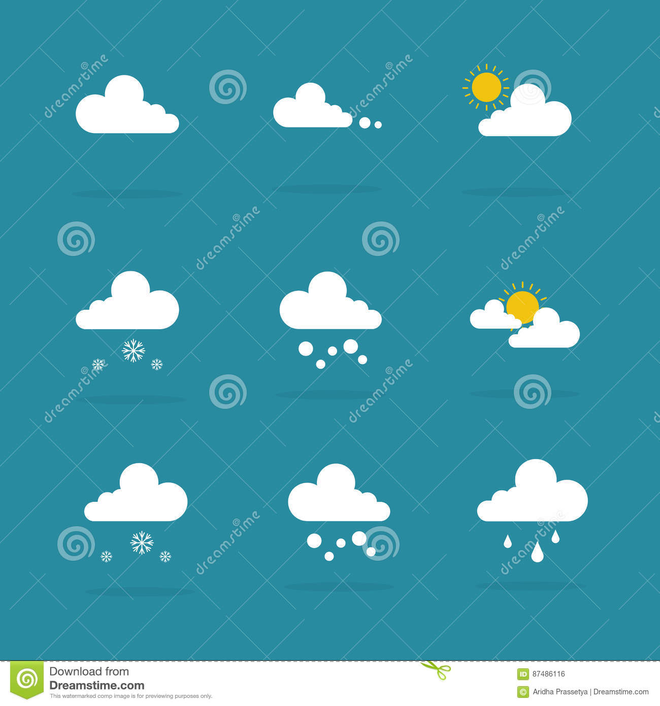 Weather set icon vector illustration