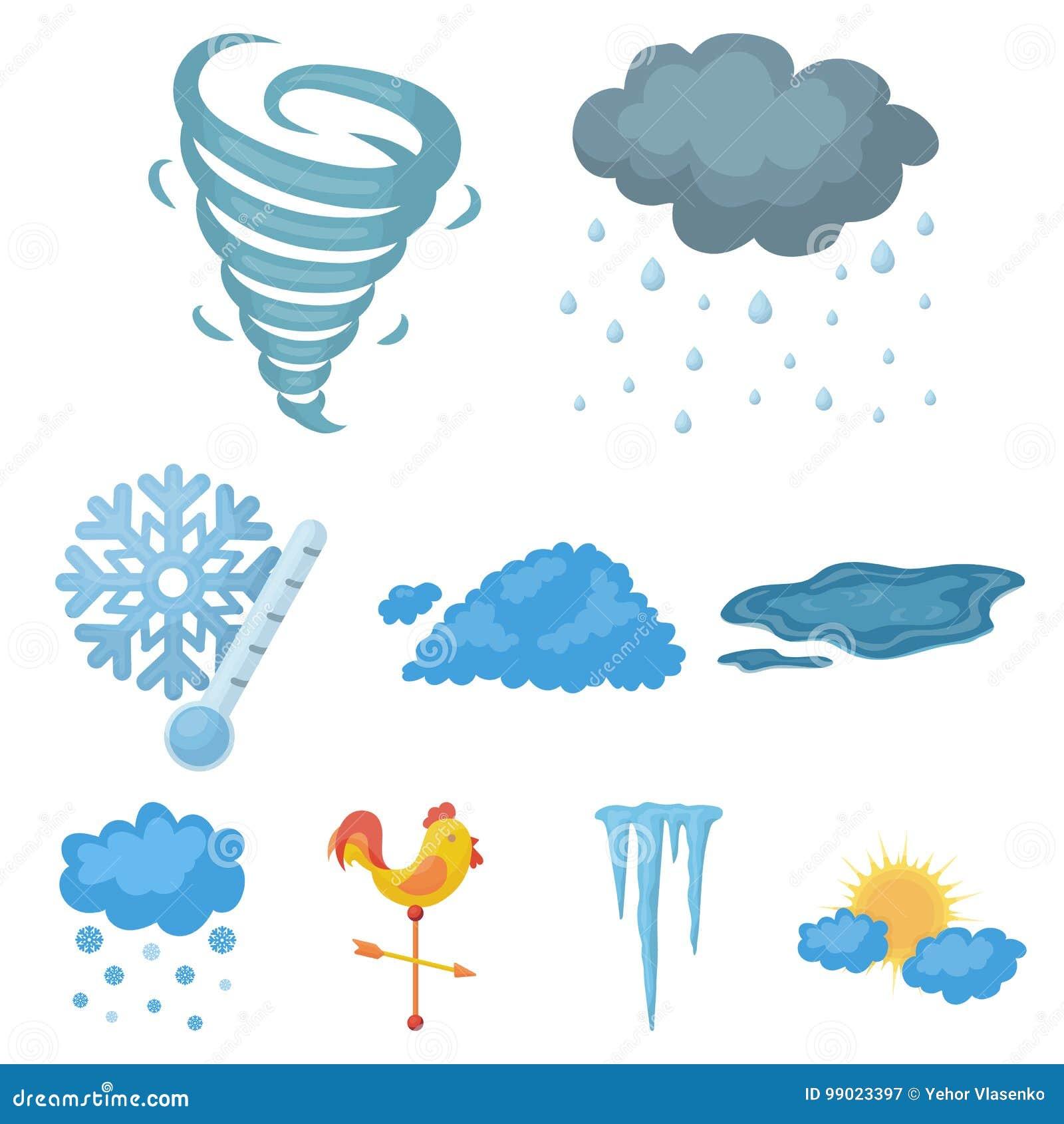 Weather set icons in cartoon style big collection of weather big collection of weather vector symbol stock illustration buycottarizona Images
