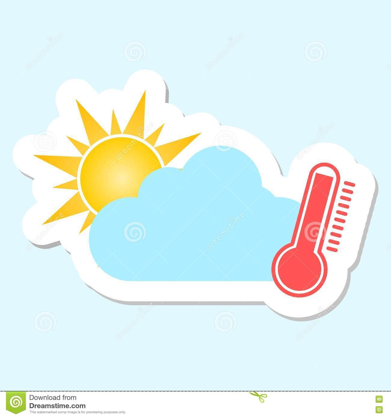 Weather Symbol Hot Stock Vector Illustration Of Snow 81384480