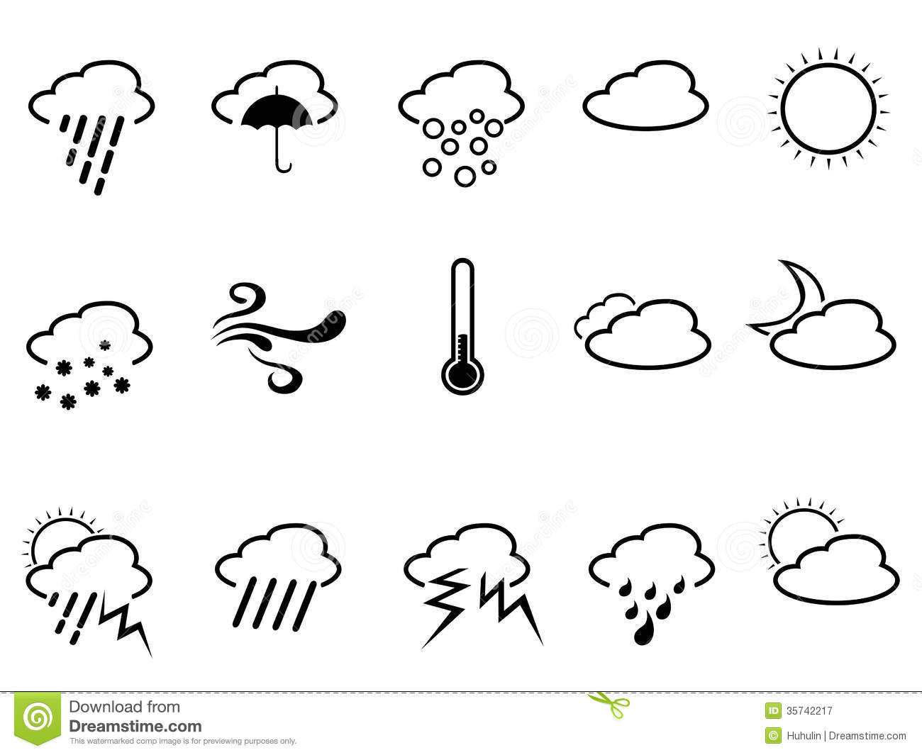 Weather Symbol Stock Vector Illustration Of Image Cloudy 35742217