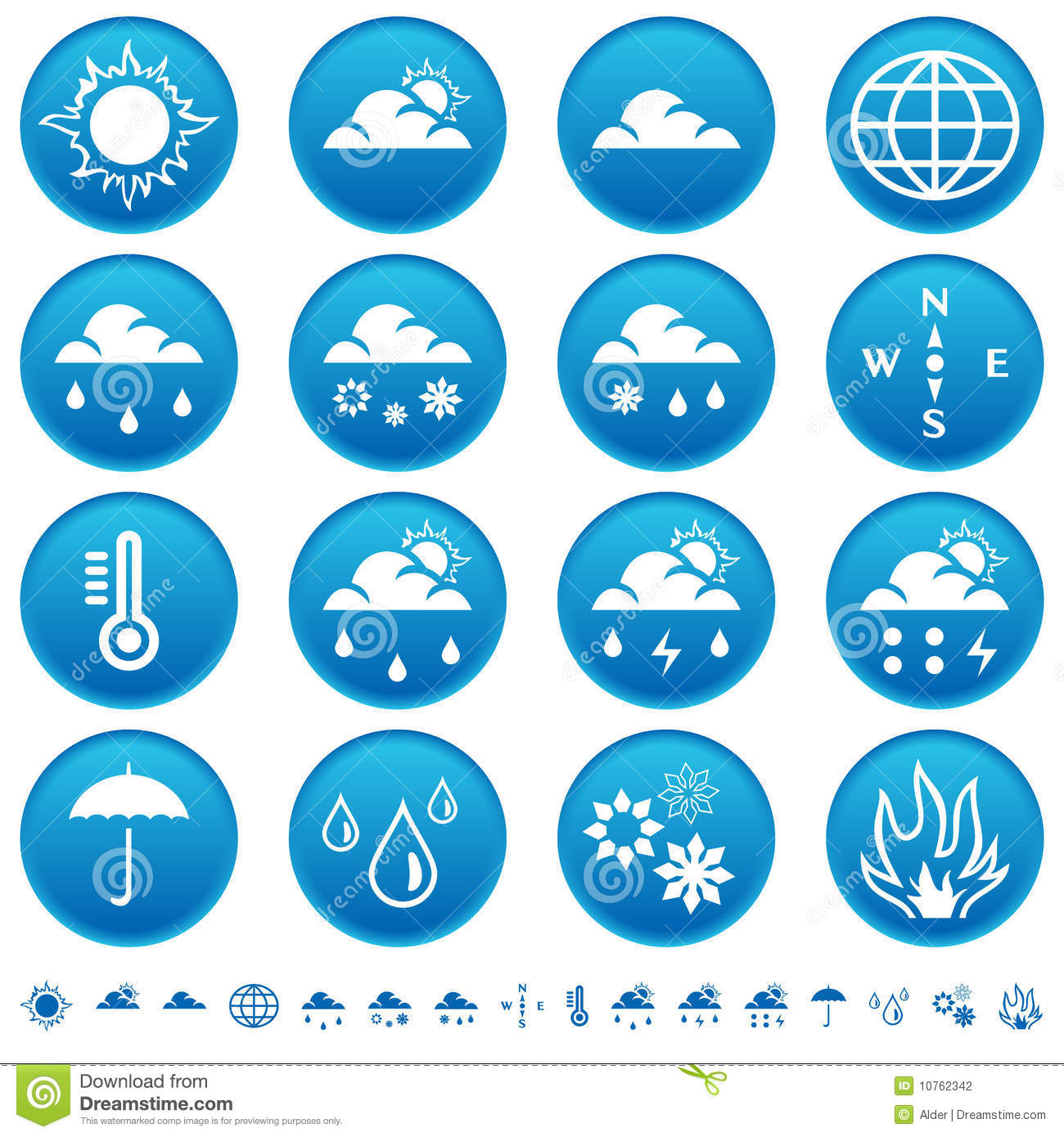 Weather symbols stock vector illustration of snow cold 6021425 weather symbols stock photography buycottarizona Gallery