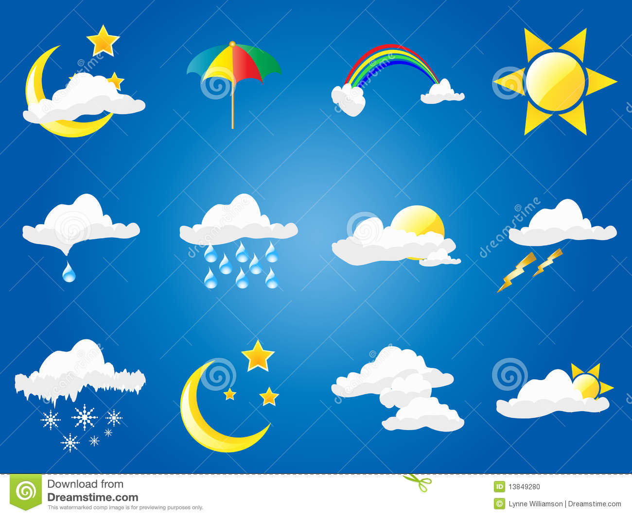 Weather Symbols Stock Photo - Image: 13849280