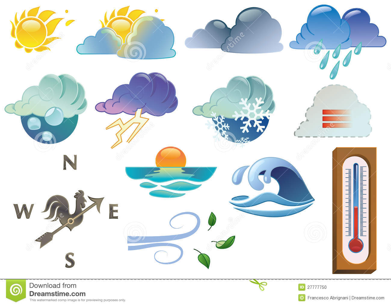 Weather symbols stock vector illustration of climate 27777750 weather symbols biocorpaavc Choice Image