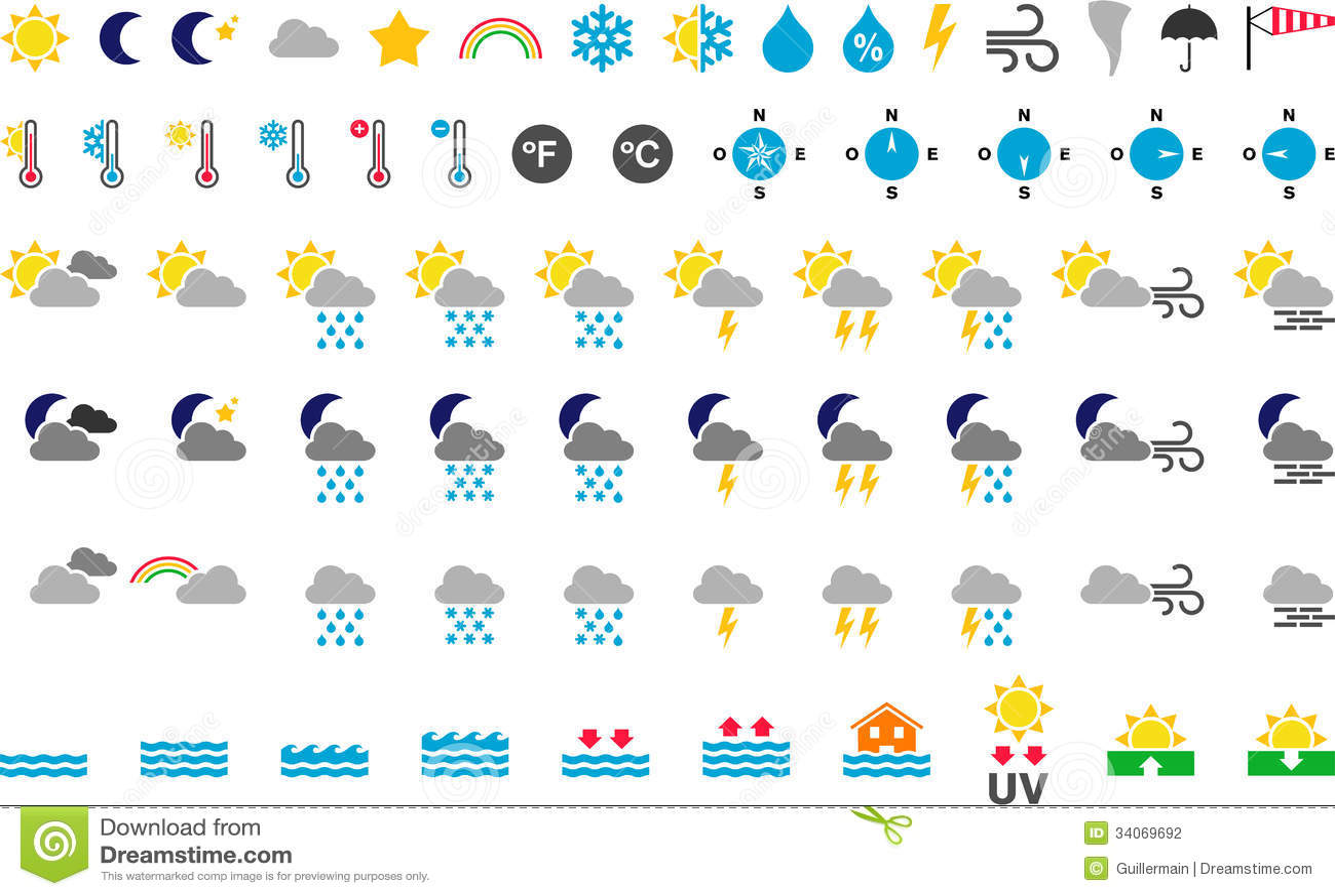 Weather Symbols Stock Photography - Image: 34069692