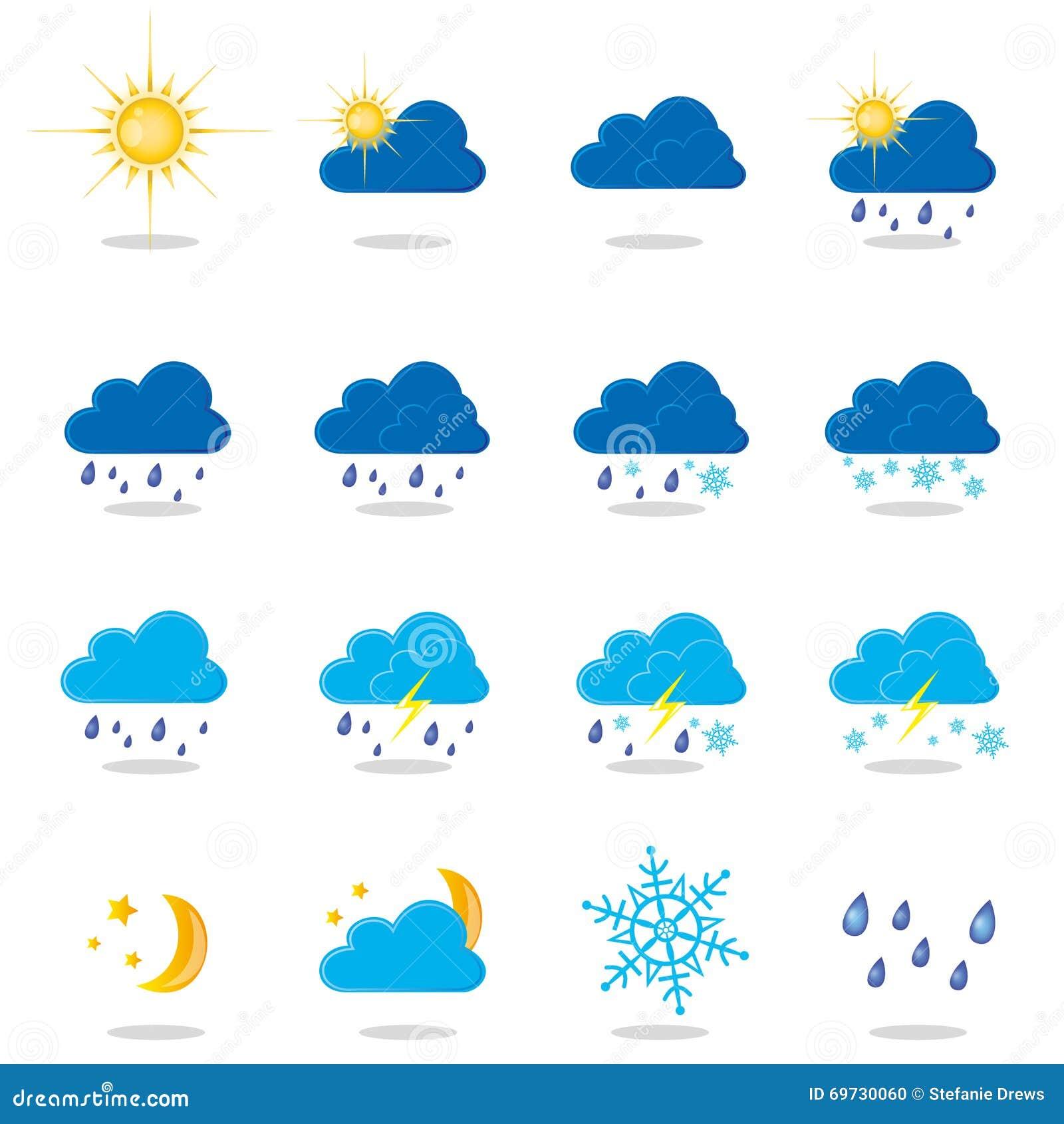 Weather Symbols Stock Vector Illustration Of Hail Stars 69730060