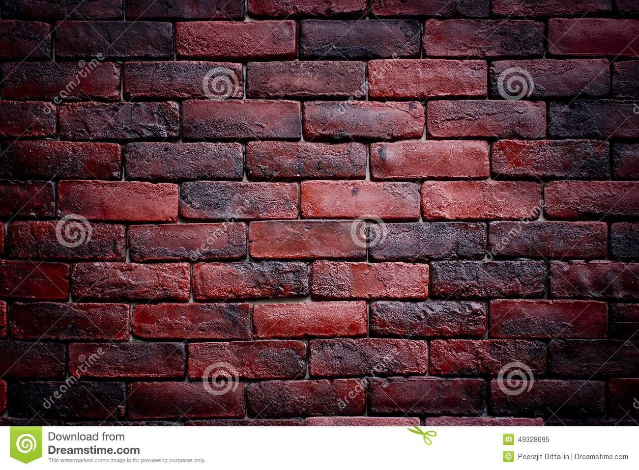 Weather texture of stained old dark brown and red bricks for Red and brown walls