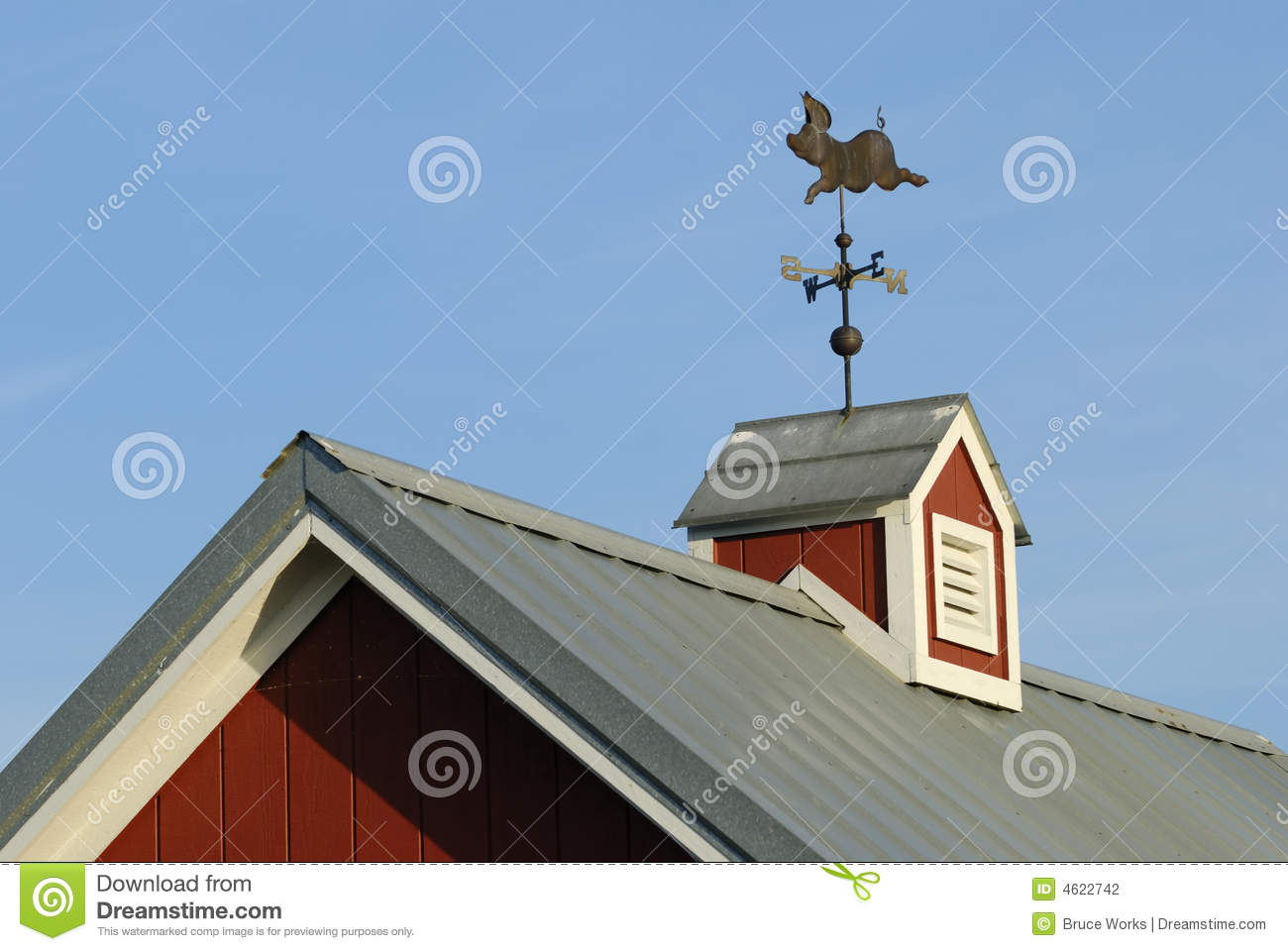 Weather vane on cupola stock photo image of rural north for Free cupola blueprints