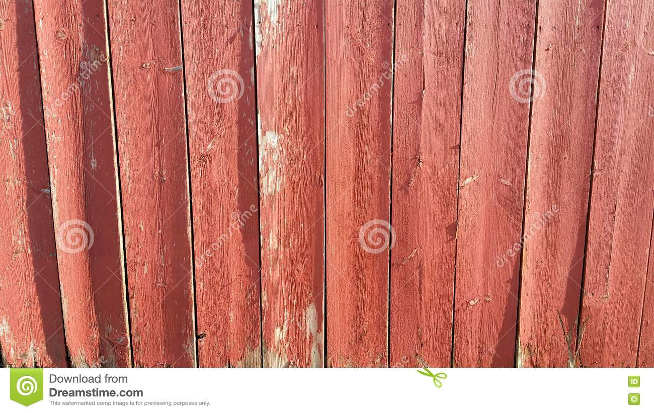 Weathered Barn Wood Painted Red Fading Old Grey Stock ...