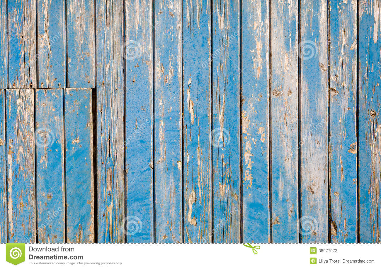 Weathered Blue Painted Wooden Background Texture Stock