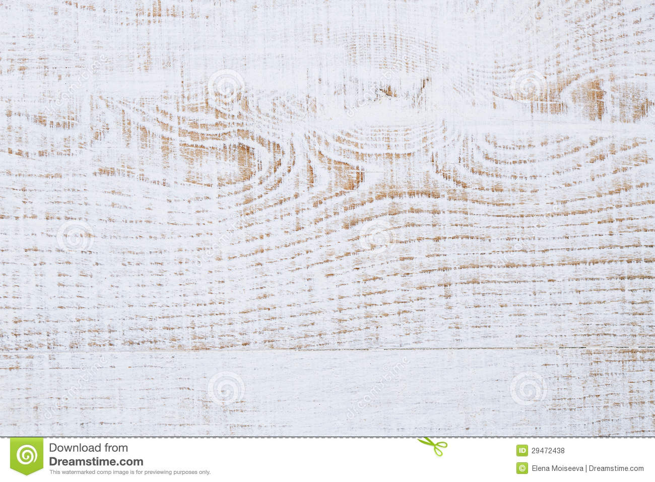 Weathered Cracked White Painted Wood Background Stock