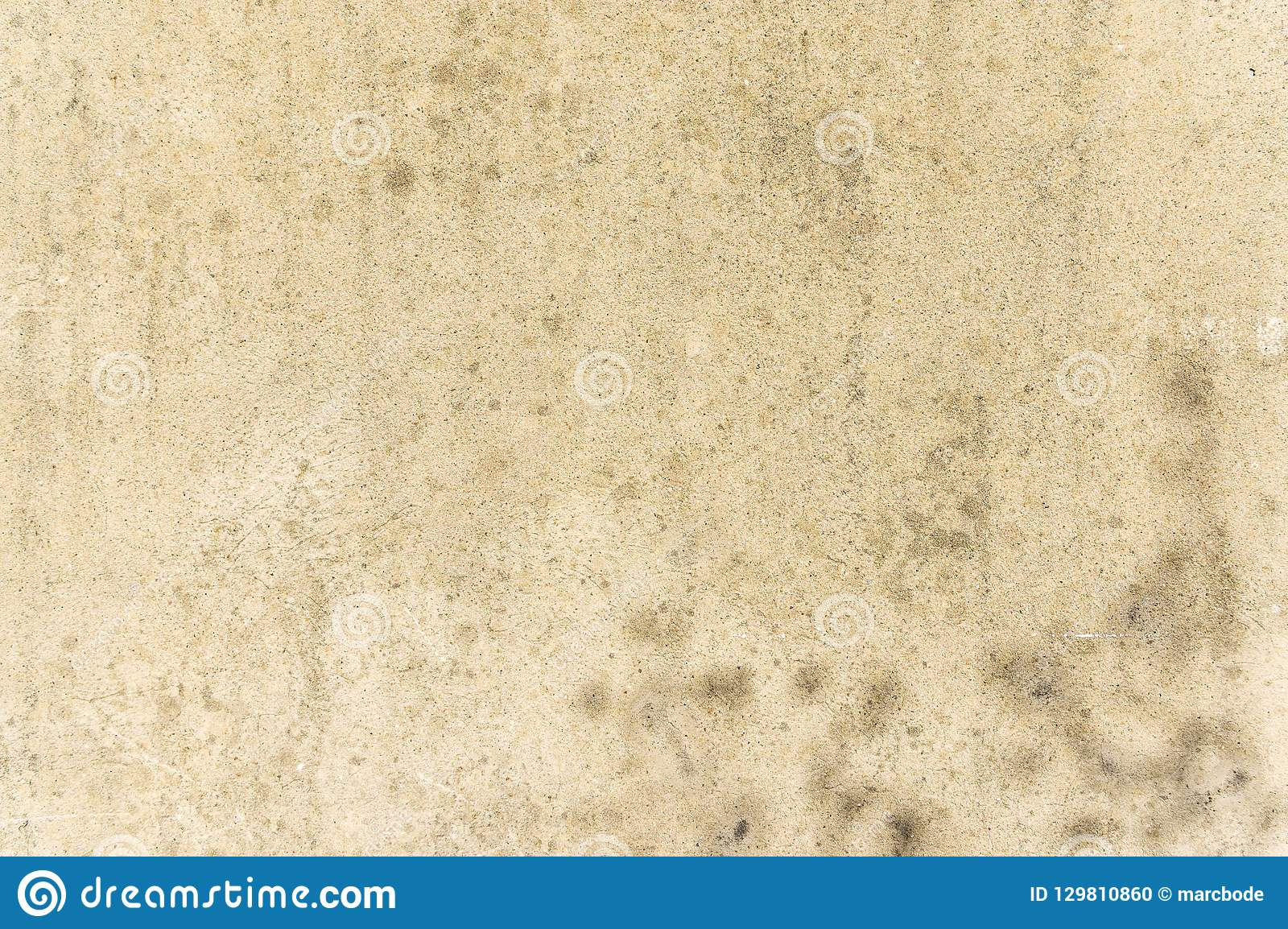 Weathered and dirty facade of concrete plaster as a background