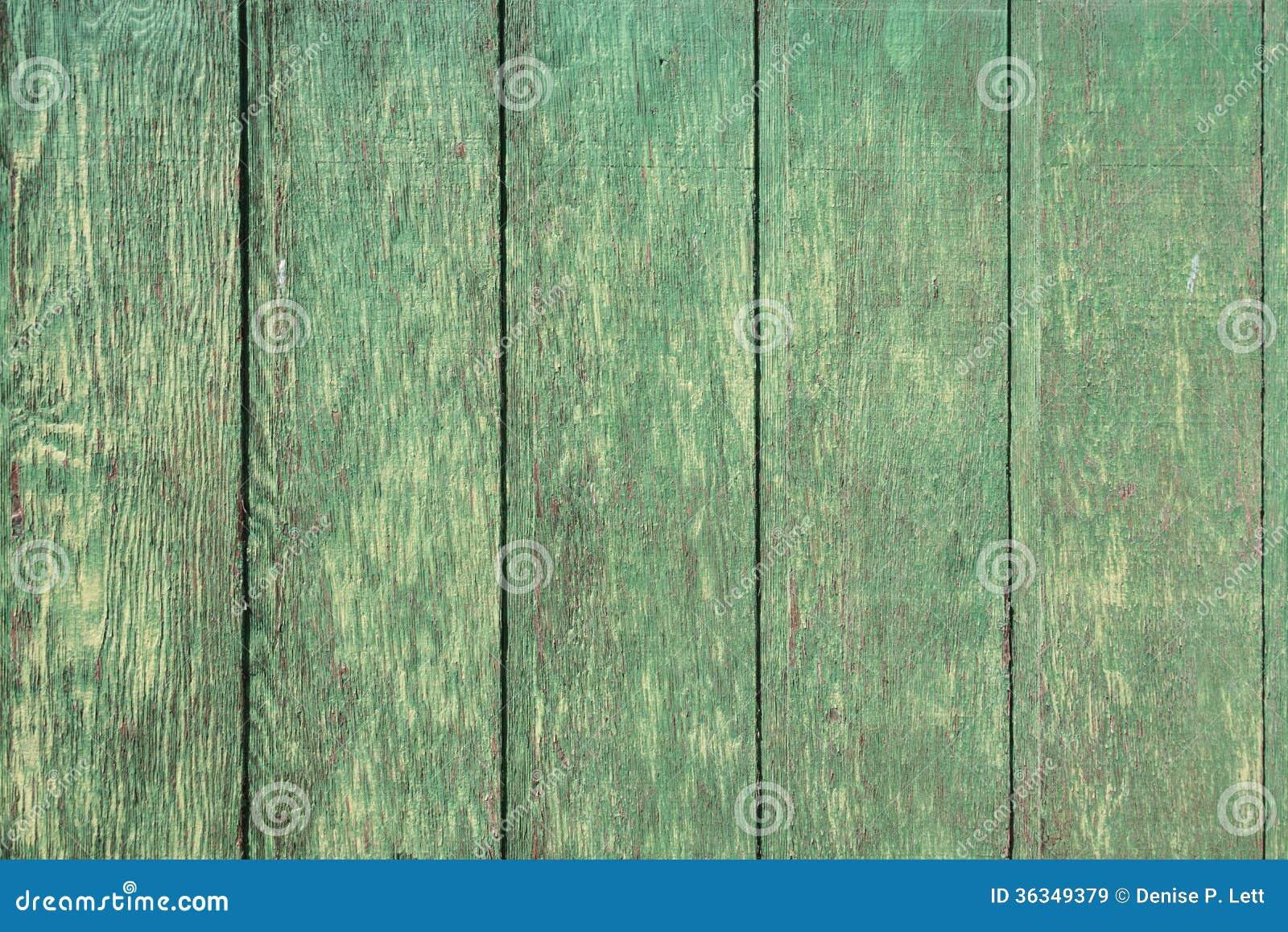 Weathered Green Wood Plank Background Stock Image Image