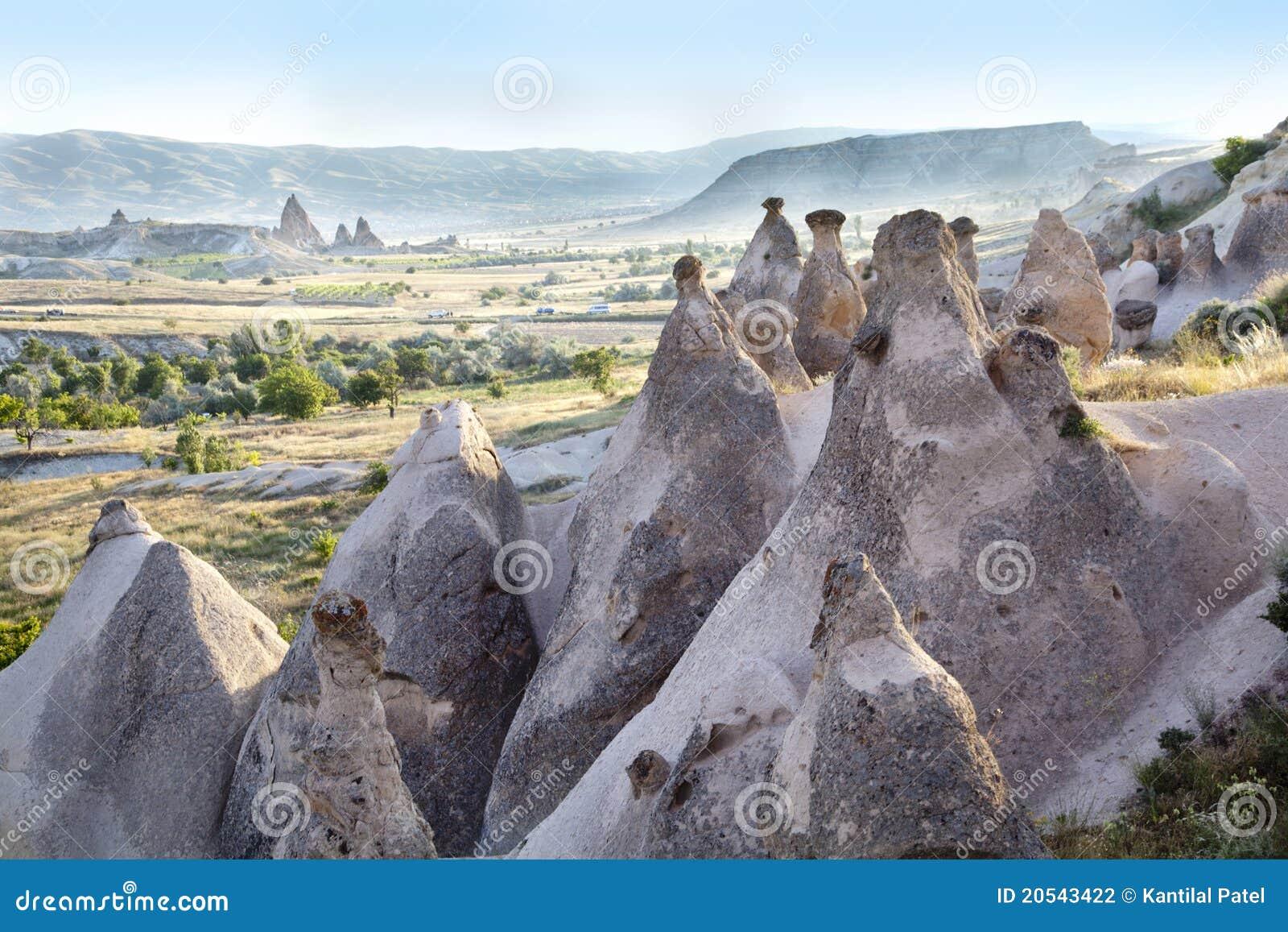 Weathered Limestone Formation Cappadocia, Turkey Stock ...