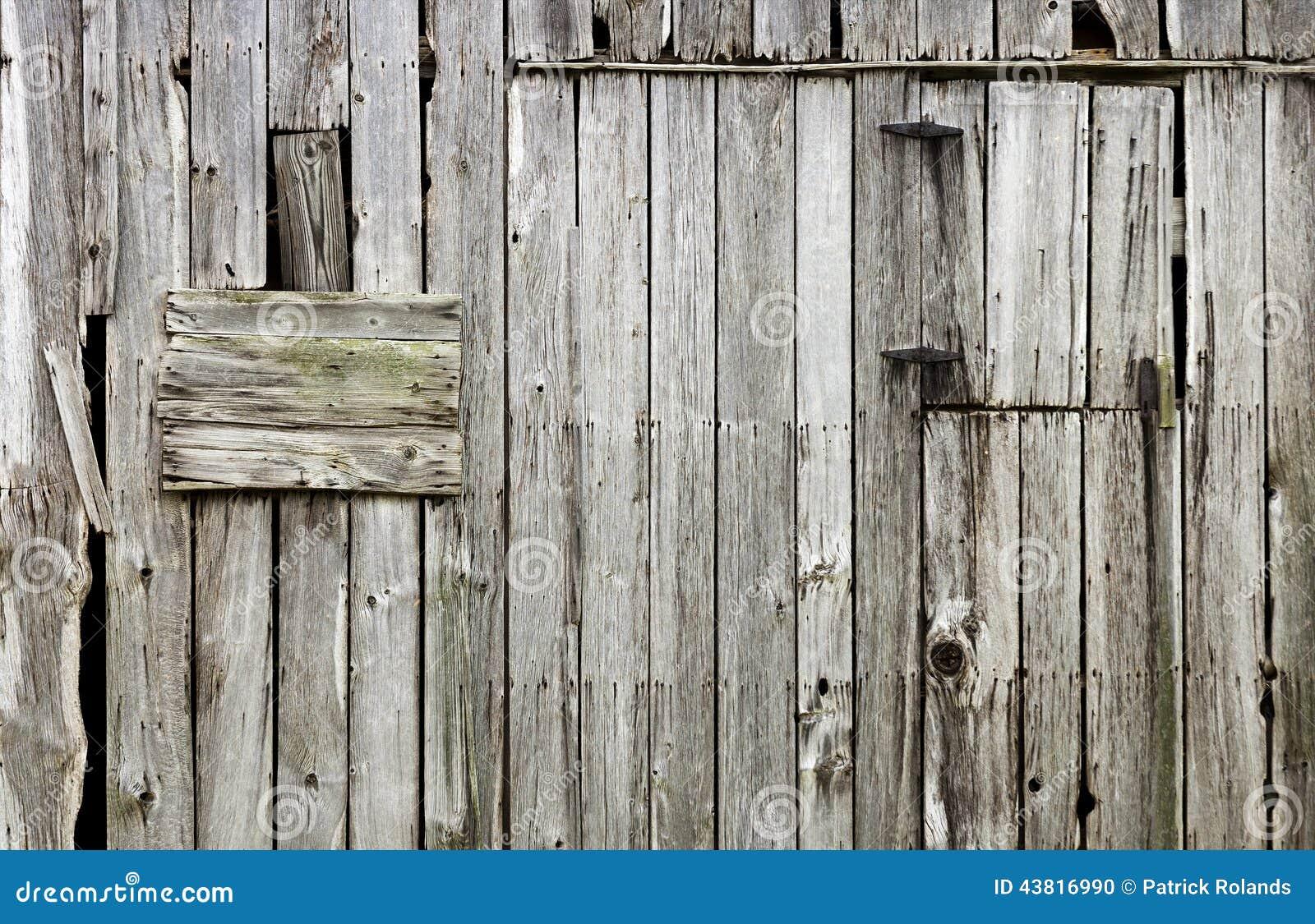 Weathered Old Wood Barn Background Stock Photo Image
