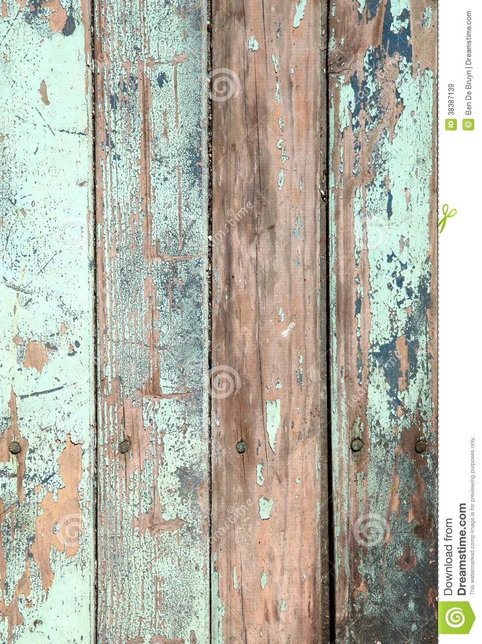 Weathered Old Wood Natural Blue Turquoise Paint Pe Stock