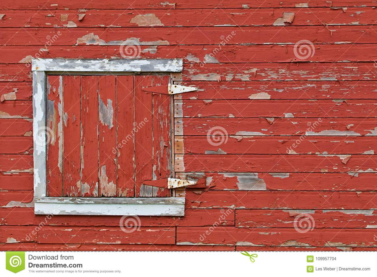Weathered Red Barn Door Stock Photo Image Of Pattern 109957704