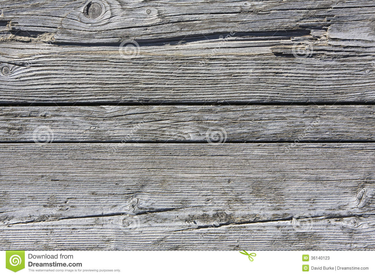 Weathered And Rotten Pine Slab Background Stock Image