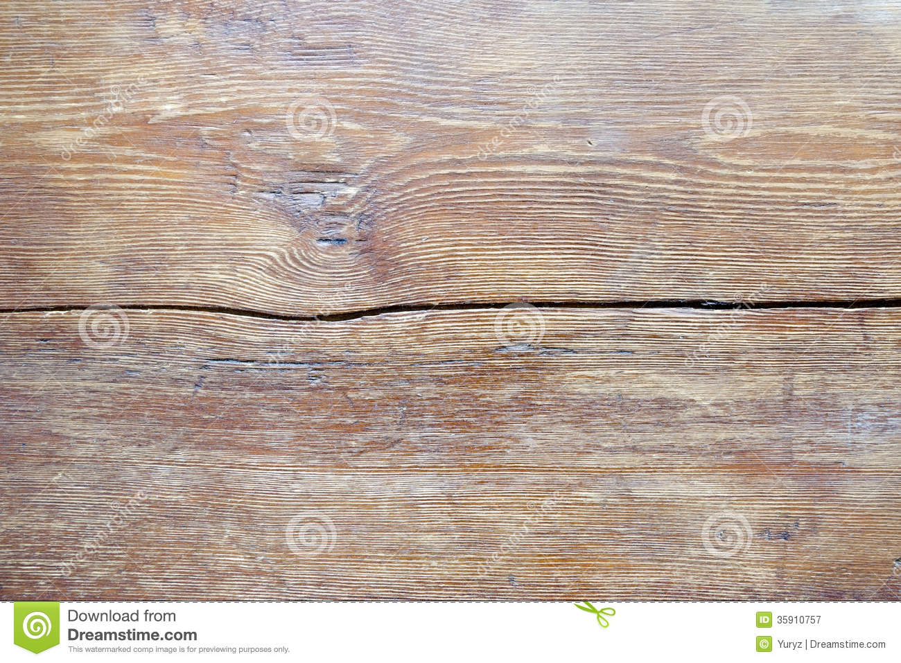 Wooden table surface