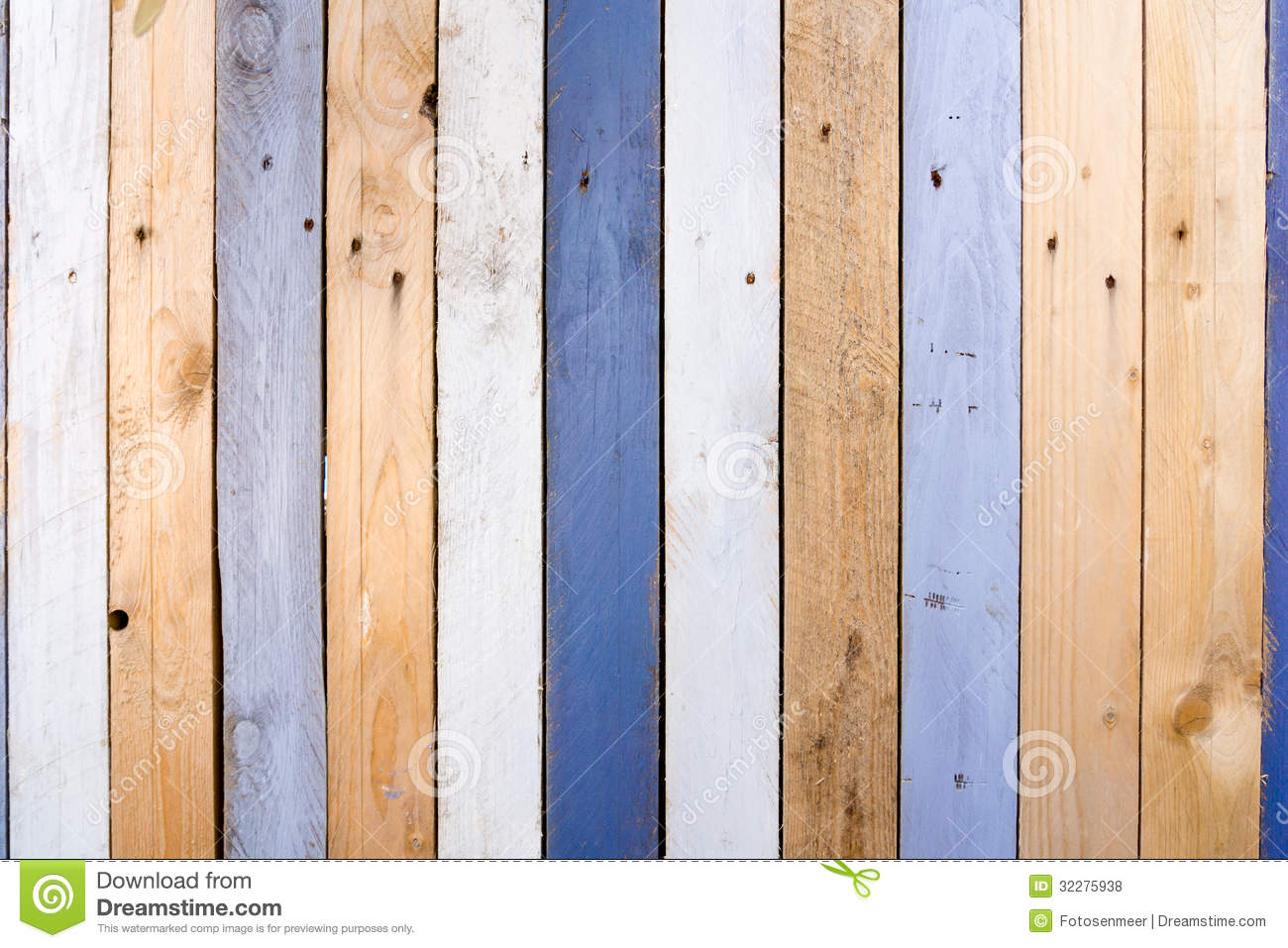 Weathered Wooden Fence Stock Illustration Image Of