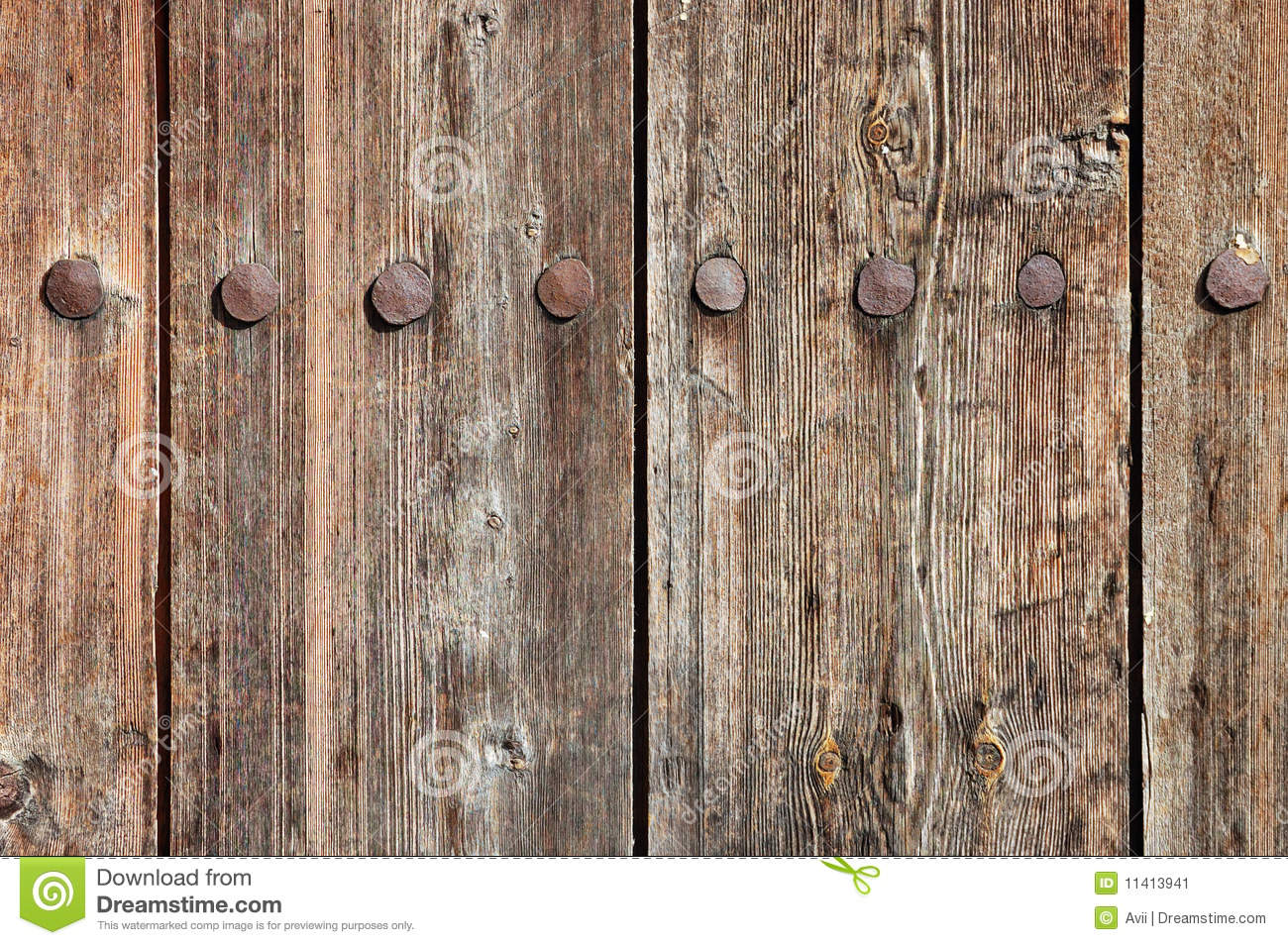 Weathered Wooden Fence Texture Stock Image Image 11413941