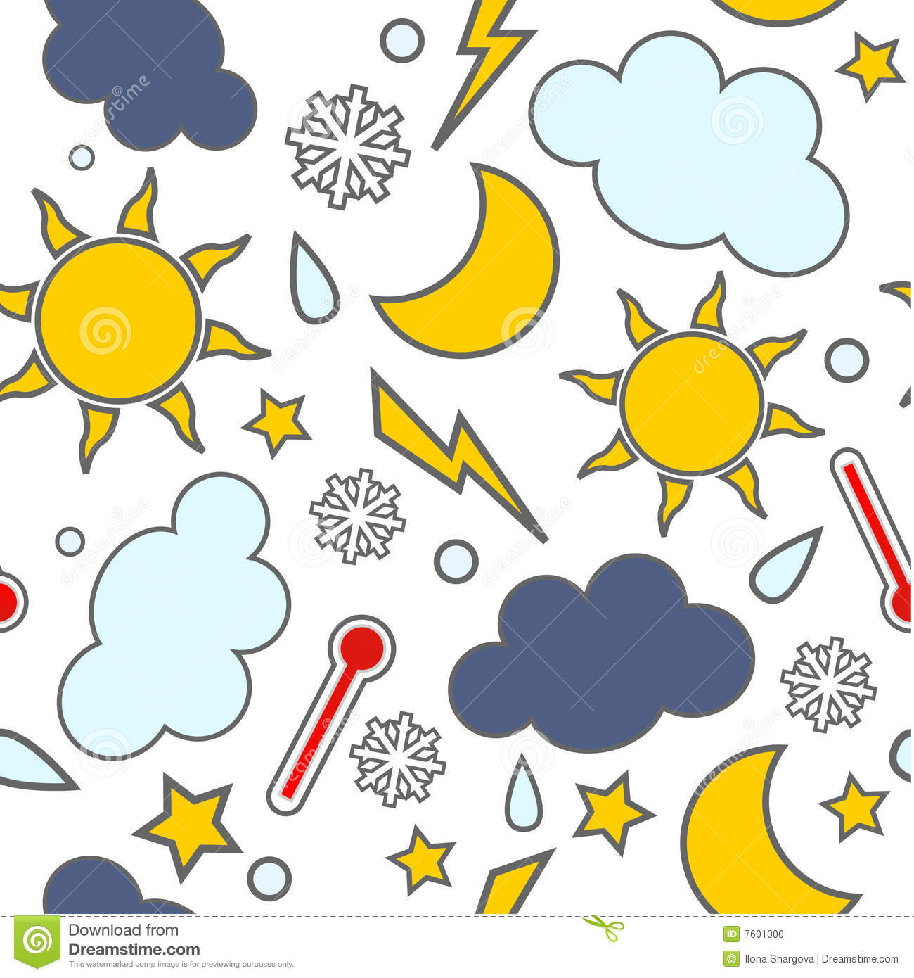 With white christmas background and snow vector vector background - Weathers Seamless Stock Photo Image 7601000