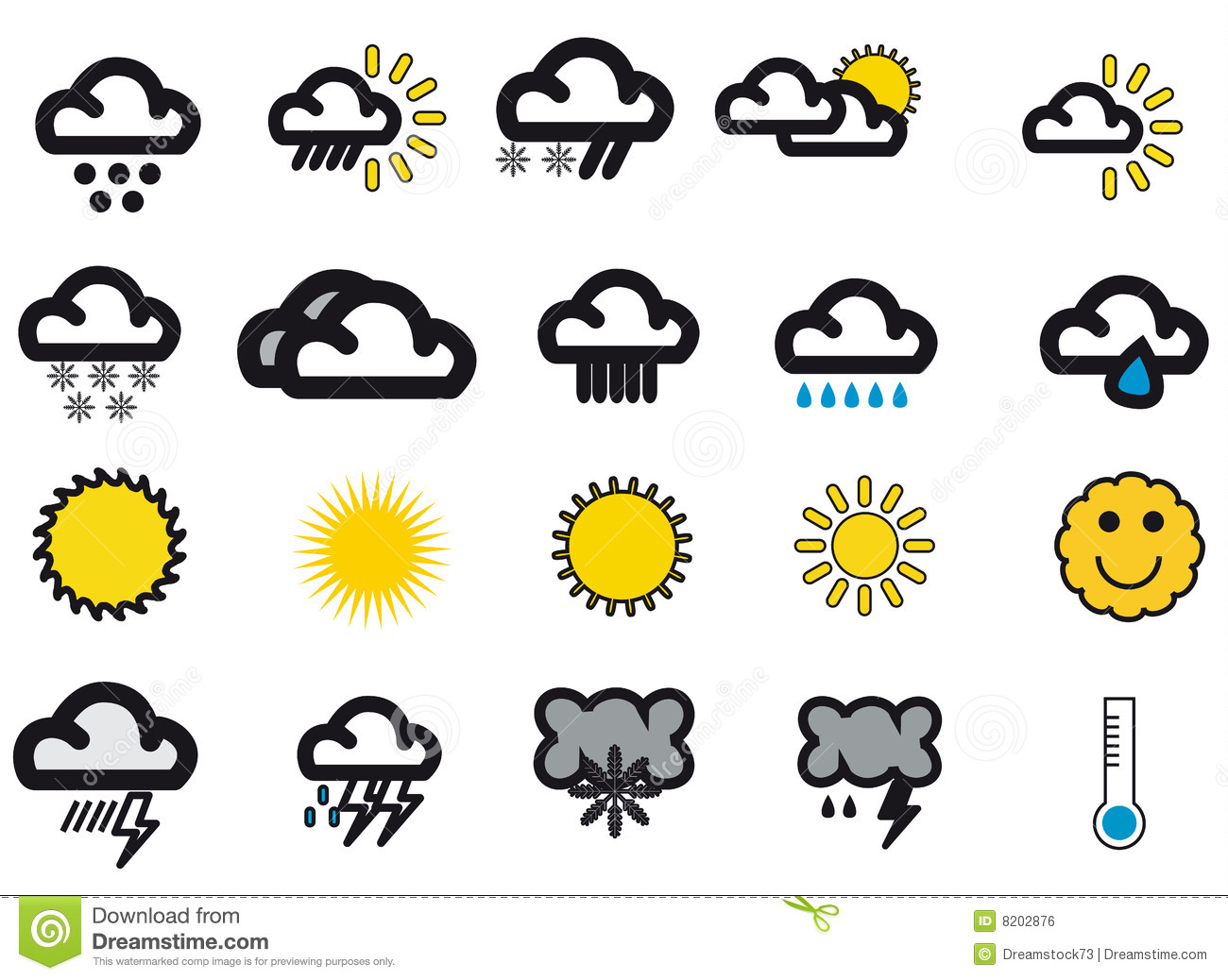 Weather Icons Stock Vector Illustration Of Icons Clouds 39108115
